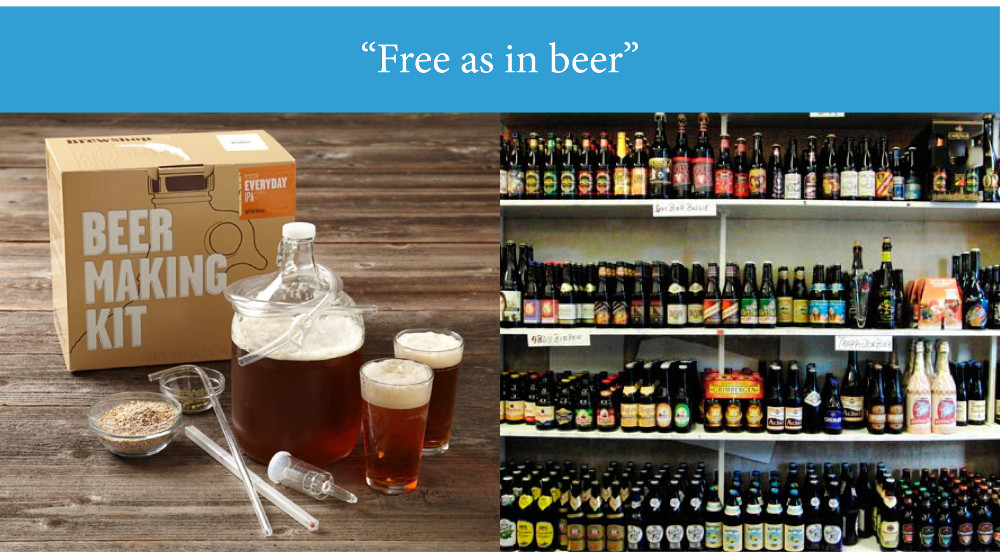 Opensource free as in beer